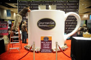 Worlds largest cup of coffee
