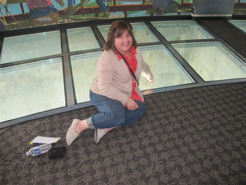 Glass floor at CN Tower