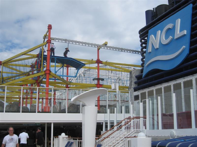 Worlds Largest Ropes Course At Sea Go BIG Or Go Home - Roller coaster on a cruise ship
